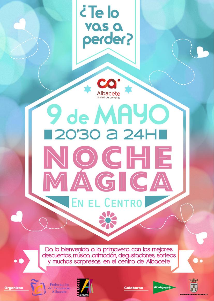 cartel noche magica Mayo 2014 Albacete